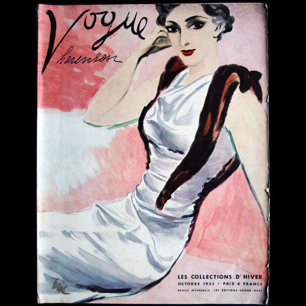 Vogue France (1er octobre 1933), couverture d'Eric