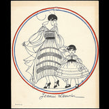 Jeanne Lanvin - Invitation illustrée par Armand Vallée (1916)