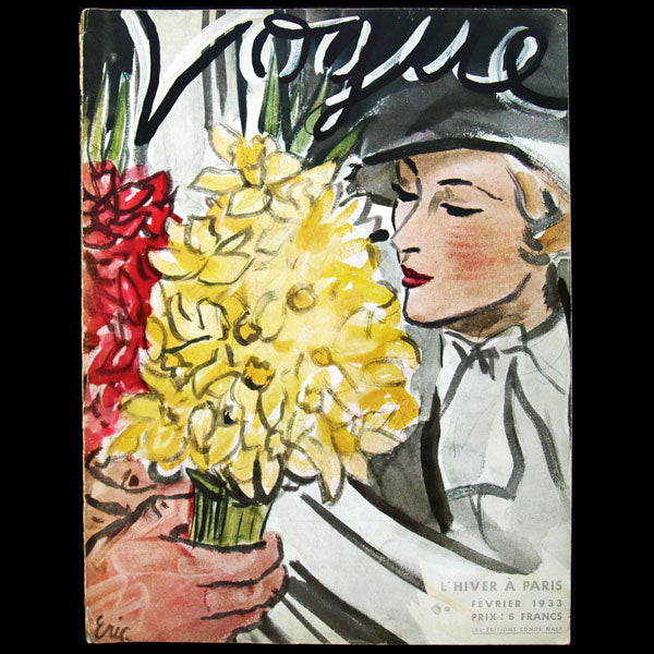 Vogue France (1er février 1933), couverture d'Eric