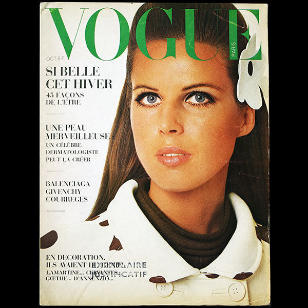 Vogue France (octobre 1967), couverture de David Bailey