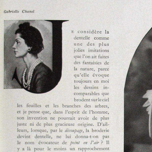 L'Illustration, 29 avril 1939 : « Dentelle » par Gabrielle Chanel