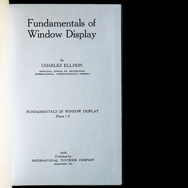 Fundamentals of Window Display (1937)
