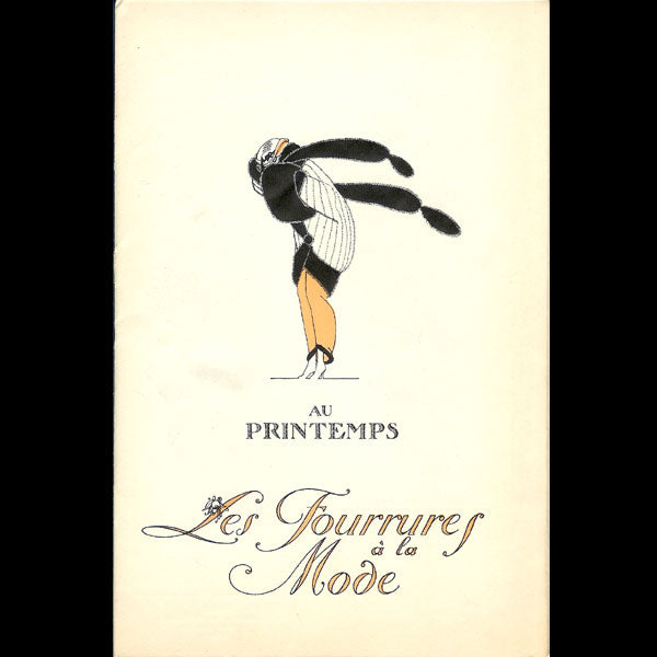 Printemps - Les Fourrures à la Mode, au Printemps, illustrations de Victor Lhuer (circa 1915)