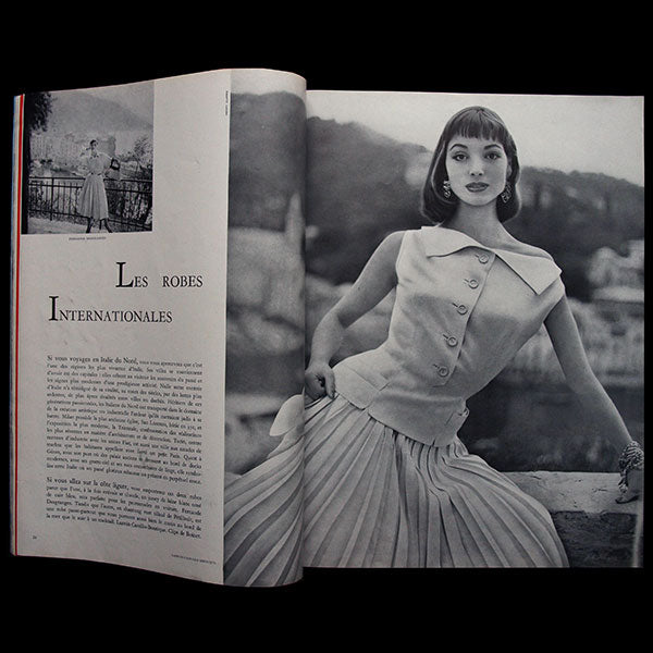 Vogue France (1er février 1955), couverture d'Henry Clarke