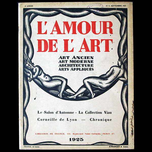 L'Amour de l'Art, septembre 1925