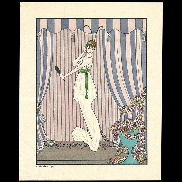 George Barbier - menu illustré pour Wanamaker (1915)