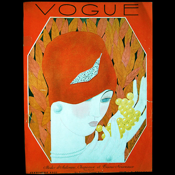 Vogue France (1er septembre 1927), couverture de Georges Lepape
