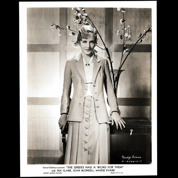 Ina Claire et Madge Evans dans The Greeks had a word for them, costumes de Gabrielle Chanel (1932)