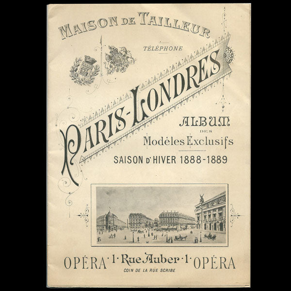 Catalogue du tailleur Paris-Londres, 1 rue Auber à Paris (1888-1889)