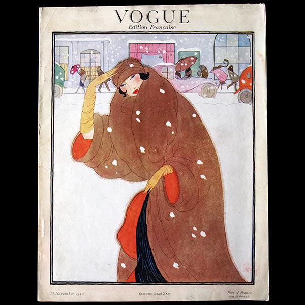 Vogue France (15 novembre 1920), couverture d'Helen Dryden