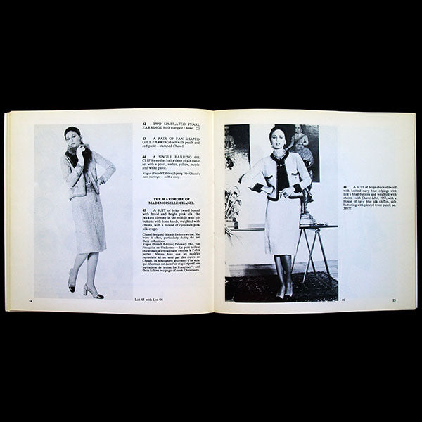 Chanel - Catalogue de la vente de la collection personnelle de Chanel par Christies - Sale of the personal collection of Chanel (1978)