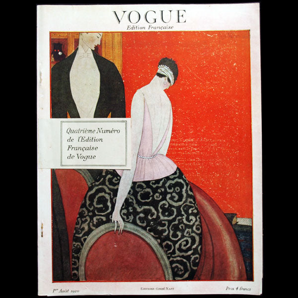 Vogue France (1er août 1920), couverture de Georges Lepape