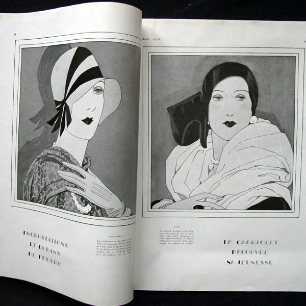Vogue France (1er aout 1928), couverture de Pierre Brissaud