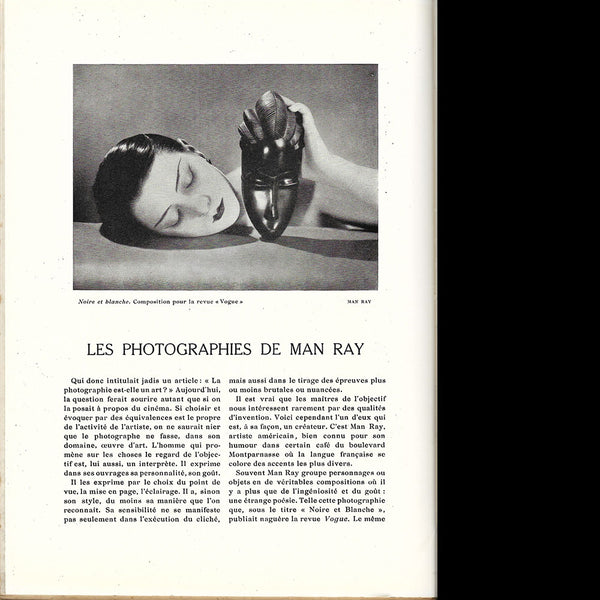 Art et Décoration, Les photographies de Man Ray (novembre 1928)