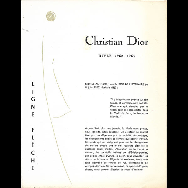 Christian Dior, Hiver 1962-1963