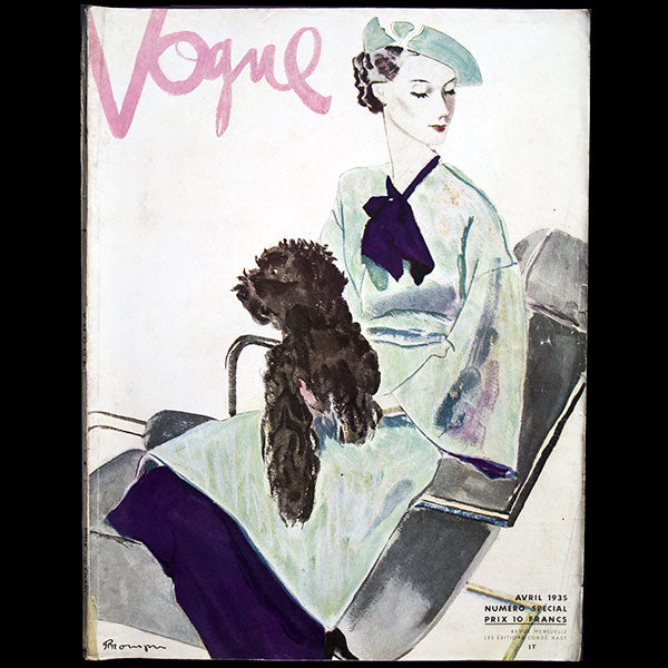 Vogue France (1er avril 1935), couverture de Pierre Mourgue