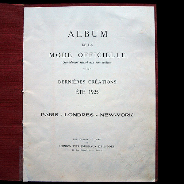 Album de la Mode Officielle, été 1925