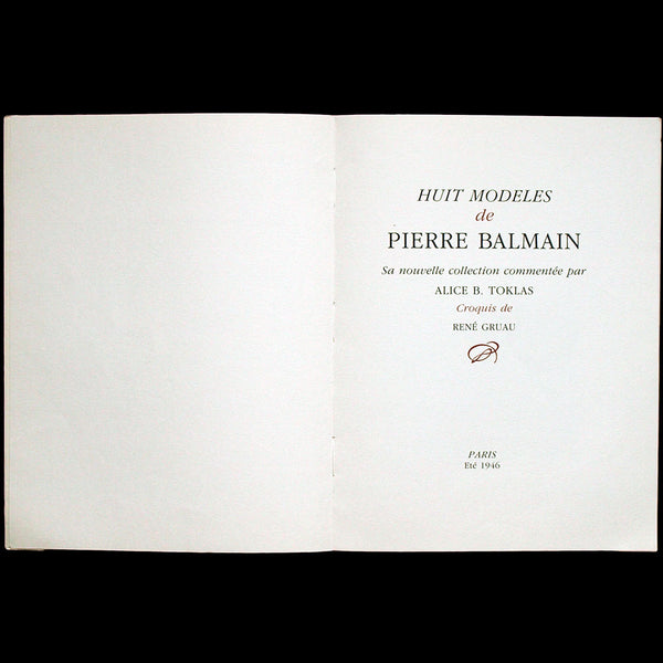 Pierre Balmain - A New French Style, illustré par René Gruau en 1946, réédition de 1985