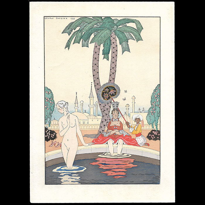 George Barbier - Invitation de la maison Jane Dirmer (circa 1912-1914)