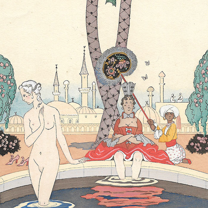 George Barbier - Le Carrosse aux deux lézards verts (1921)