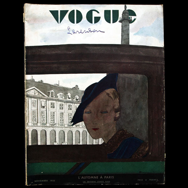 Vogue France (1er novembre 1932), couverture de Pierre Mourgue