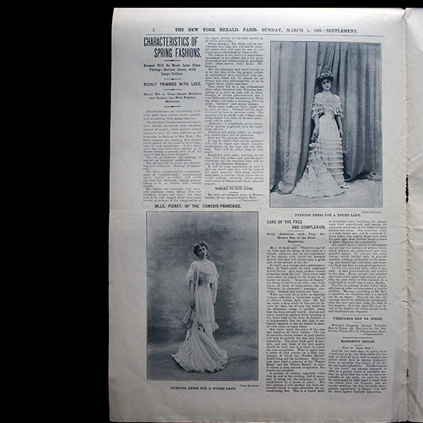 The New York Herald Fashion Supplement, March 1st, 1903