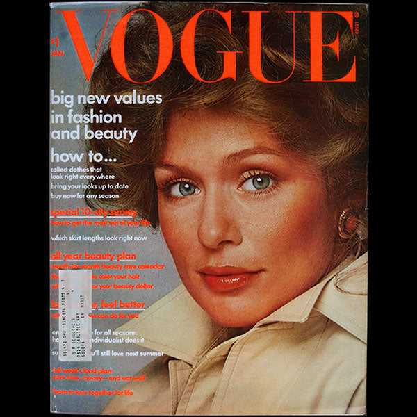 Vogue US (1st January 1974), couverture de Scavullo
