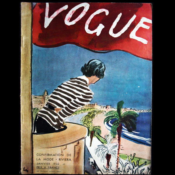 Vogue France (1er janvier 1932), couverture d'Eric