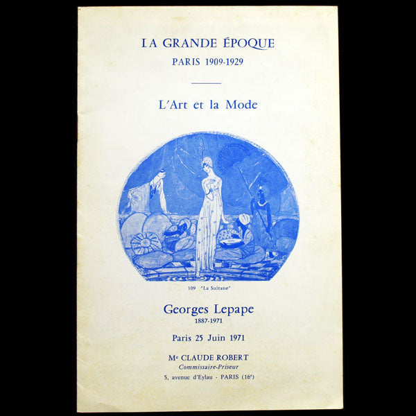 L'Art et la Mode : Georges Lepape 1882-1971, catalogue de vente de l'étude Robert (1971)