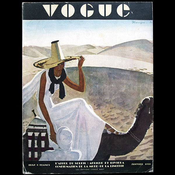 Vogue France (janvier 1931), couverture de Pierre Mourgue