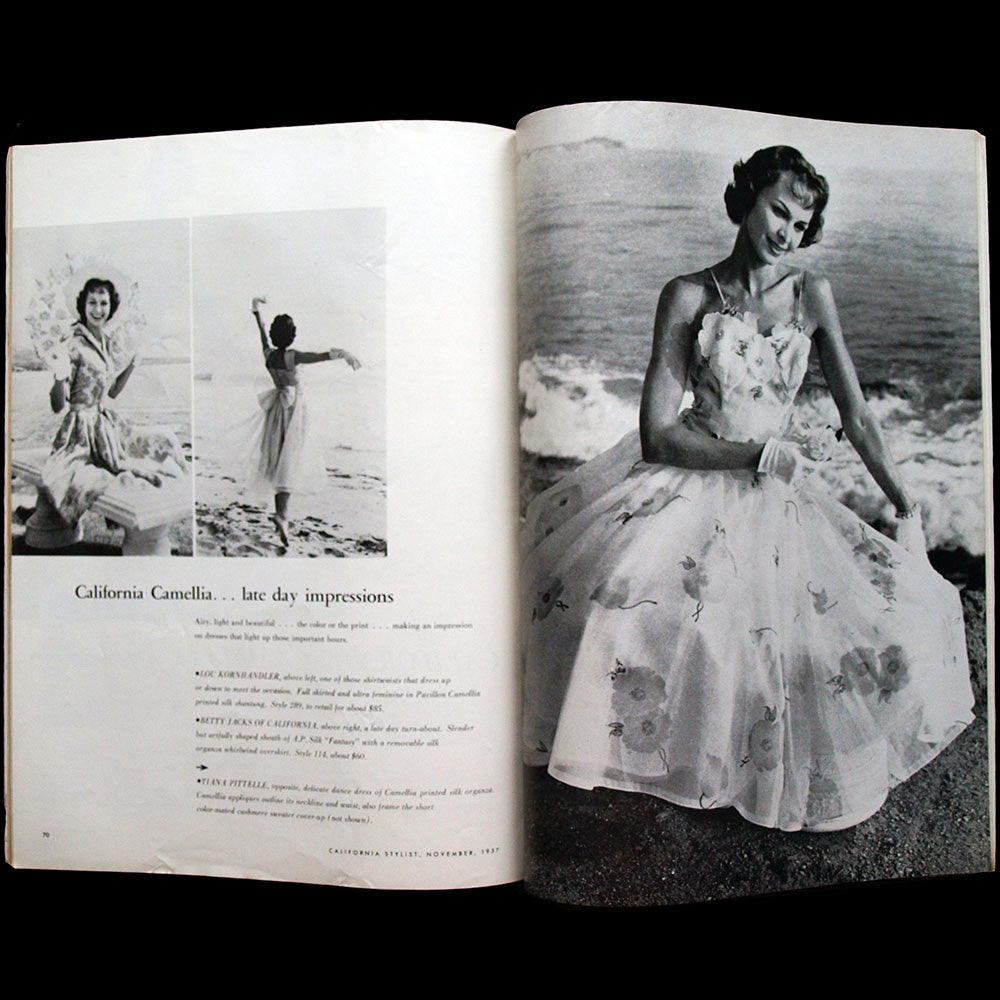 California Stylist, November 1957, couverture de Lois Jezek