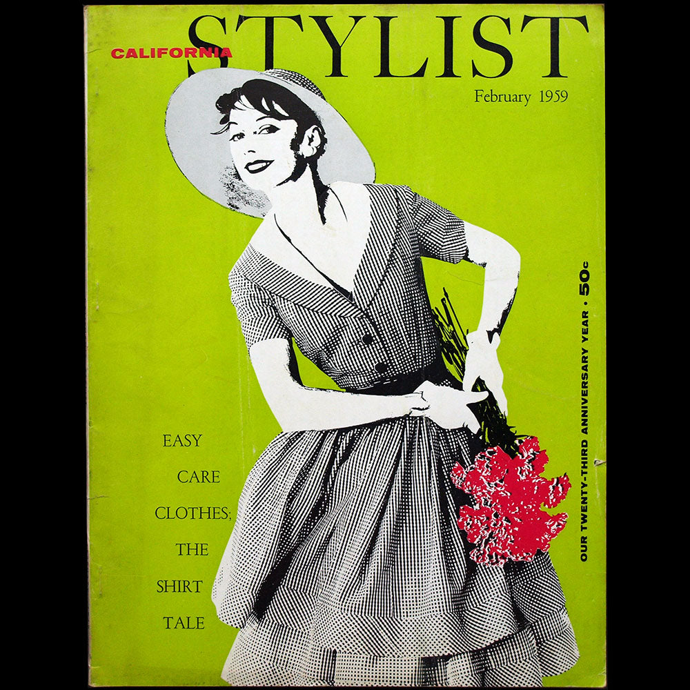 California Stylist, February 1959, couverture de Frances Blaker