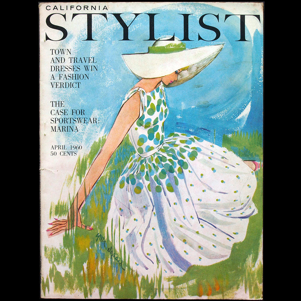 California Stylist, April 1960, couverture de Greta Elgaard