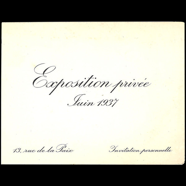 Cartier - Invitation à l'exposition privée (1937)