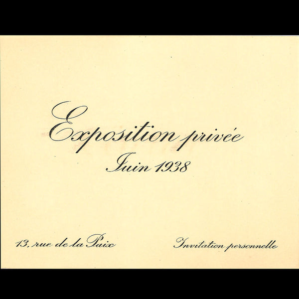 Cartier - Invitation à l'exposition privée (1938)