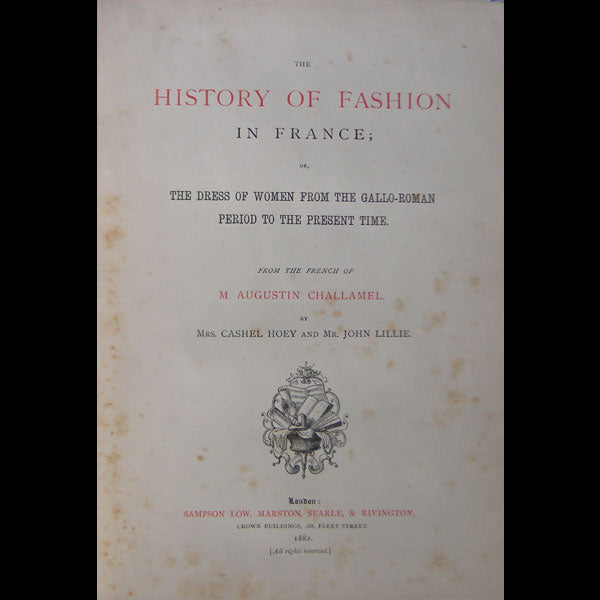 Challamel - The History of Fashion in France (1882)
