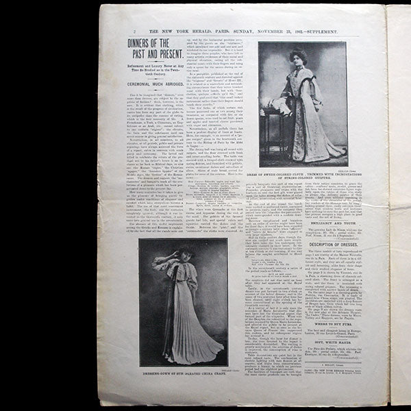 The New York Herald Fashion Supplement, November 23rd 1902