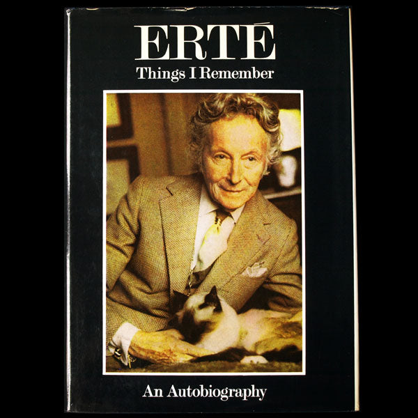 Erté, Things I remember, an autobiography, exemplaire de Carrie Donovan