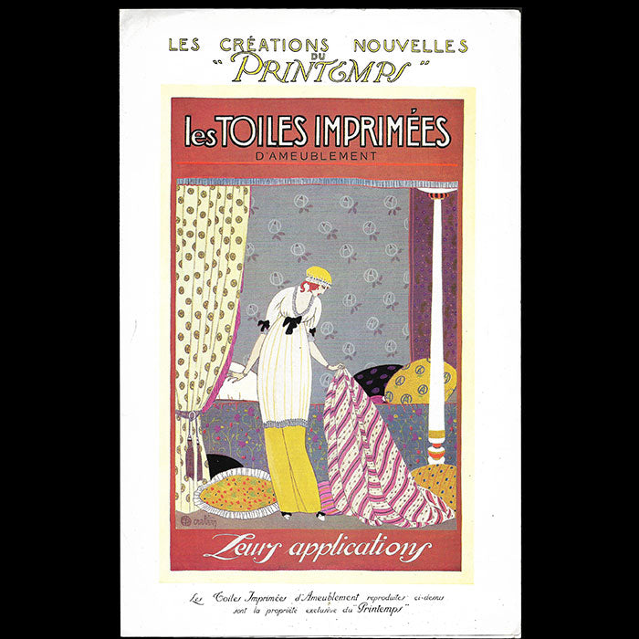 Le Printemps - Les toiles imprimées, catalogue illustré par Charles Martin (circa 1912)