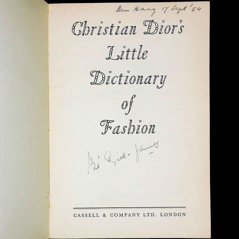 Christian Dior's little dictionary of fashion (1954)
