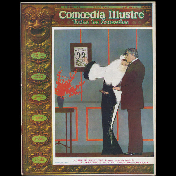 Comoedia illustré (20 octobre 1912), couverture d'André-Edouard Marty