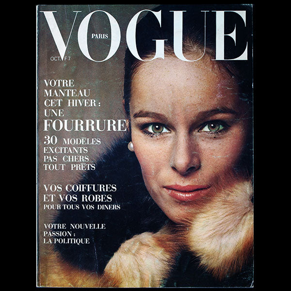 Vogue France (octobre 1969), couverture de Jean-Loup Sieff