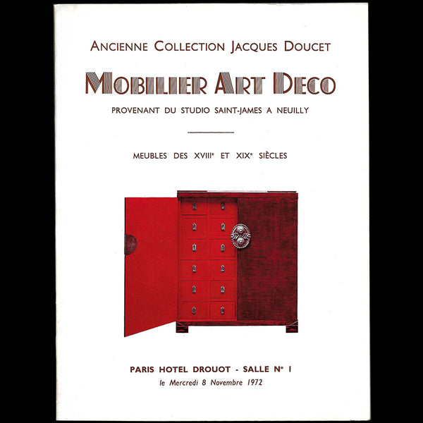 Doucet - Ancienne Collection Jacques Doucet, Mobilier Art-déco provenant du Studio Saint James à Neuilly (1972)
