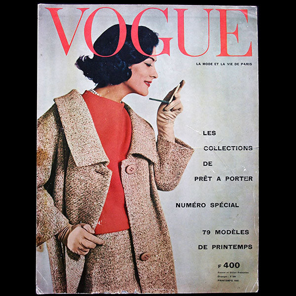Vogue France (février 1958), couverture de William Klein