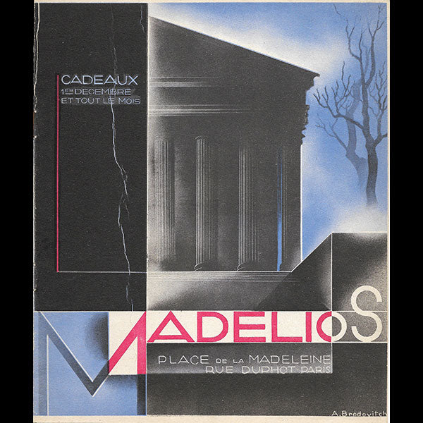 Madelios - Catalogue d'hiver, couverture d'Alexei Brodovitch (1928)