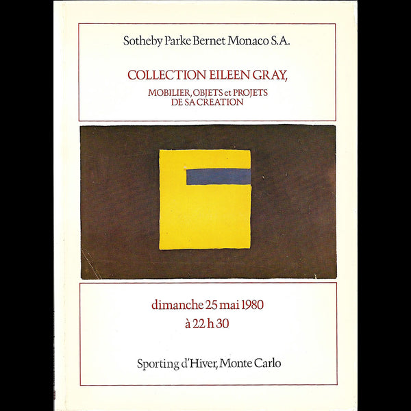 Eileen Gray - Collection Eileen Gray, catalogue Sotheby Parke Bennett Monaco (1980)