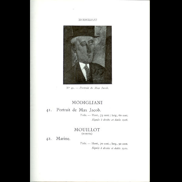 Poiret - Catalogue de la vente de la collection de M. Paul Poiret (1925)