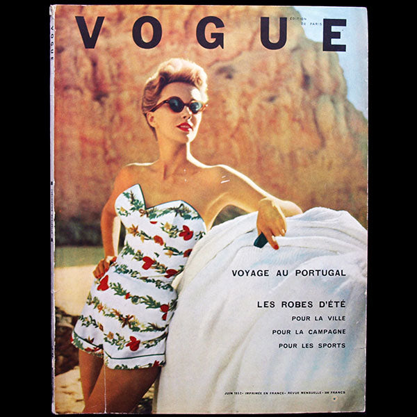 Vogue France (1er juin 1952), couverture d'Henry Clarke