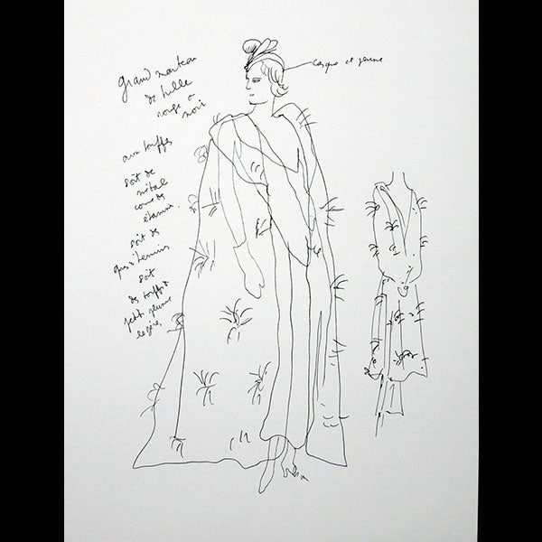 Chanel - A Portfolio of Fashion & Theatre Designs, dessins de Jean Cocteau (1989)