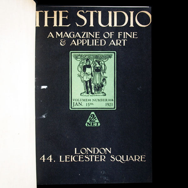 The Studio, a Magazine of Fine and Applied Art, année complète 1921, exemplaire d'Erté